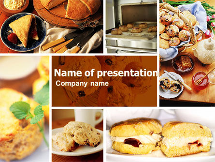 Pastry In Collage PowerPoint Template