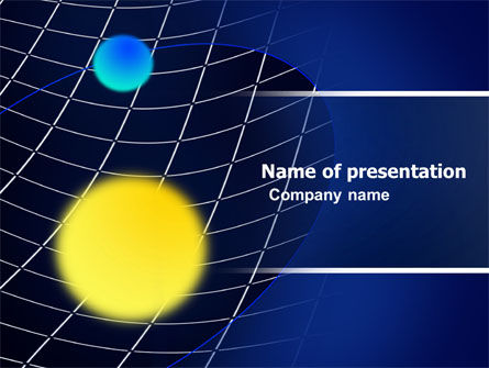 Gravity PowerPoint Template, 05778, Technology and Science — PoweredTemplate.com