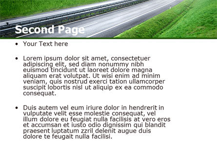 Dawn Highway PowerPoint Template Slide 2
