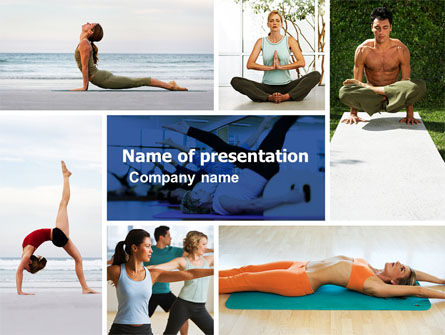 Yoga PowerPoint Template, 05782, Sports — PoweredTemplate.com