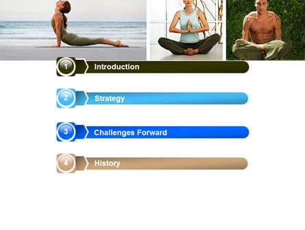Yoga PowerPoint Template, Slide 3, 05782, Sports — PoweredTemplate.com