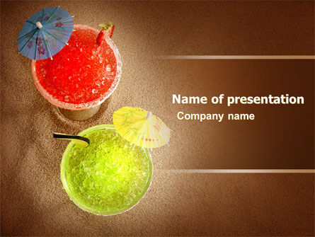Beach Cocktails Free PowerPoint Template, 05783, Careers/Industry — PoweredTemplate.com