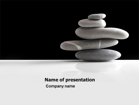 Balanced Stones PowerPoint Template, 05785, Business Concepts — PoweredTemplate.com
