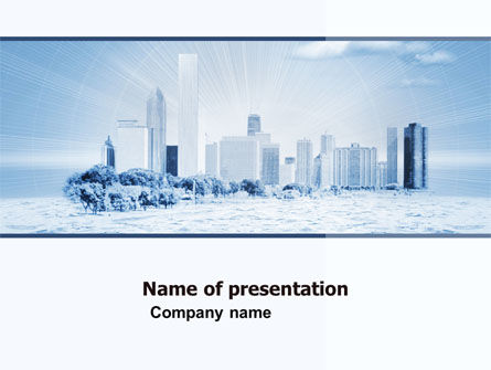 Construction: Ice City PowerPoint Template #05787