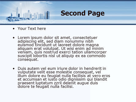 Ice City PowerPoint Template, Slide 2, 05787, Construction — PoweredTemplate.com