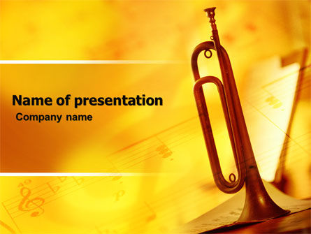 Trumpet PowerPoint Template, 05788, Art & Entertainment — PoweredTemplate.com