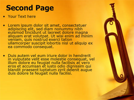 Trumpet PowerPoint Template, Slide 2, 05788, Art & Entertainment — PoweredTemplate.com