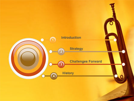 Trumpet PowerPoint Template, Slide 3, 05788, Art & Entertainment — PoweredTemplate.com