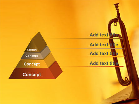 Trumpet PowerPoint Template, Slide 4, 05788, Art & Entertainment — PoweredTemplate.com