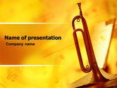 Art & Entertainment: Trumpet PowerPoint Template #05788