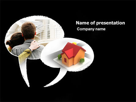 Own Home PowerPoint Template, 05790, Financial/Accounting — PoweredTemplate.com