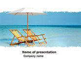 Holiday/Special Occasion: Beach Bench PowerPoint Template #05791