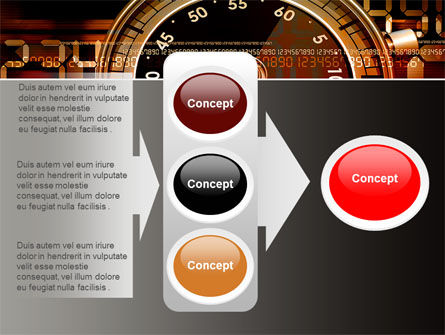 Stopwatch Clockface PowerPoint Template Slide 11