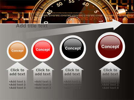 Stopwatch Clockface PowerPoint Template Slide 13