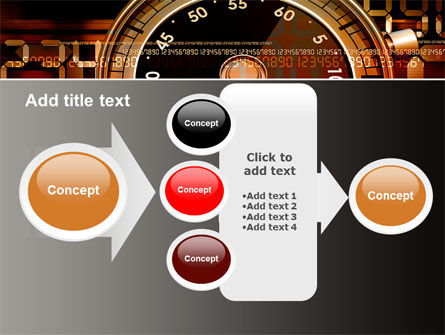 Stopwatch Clockface PowerPoint Template Slide 17