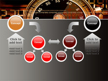 Stopwatch Clockface PowerPoint Template Slide 19