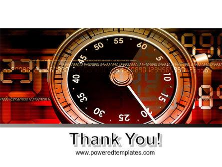 Stopwatch Clockface PowerPoint Template Slide 20