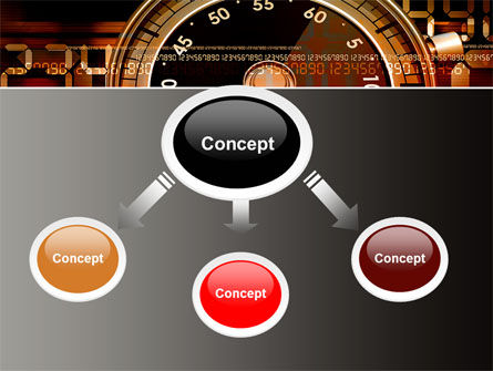 Stopwatch Clockface PowerPoint Template Slide 4