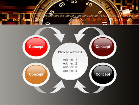 Stopwatch Clockface PowerPoint Template Slide 6