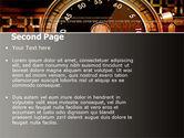 Stopwatch Clockface PowerPoint Template#2