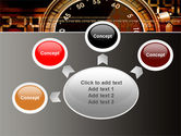 Stopwatch Clockface PowerPoint Template#7