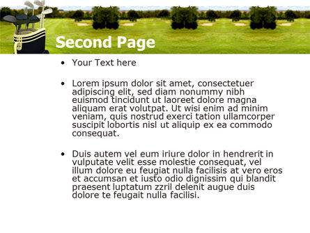 Golf Clubs PowerPoint Template, Slide 2, 05793, Sports — PoweredTemplate.com