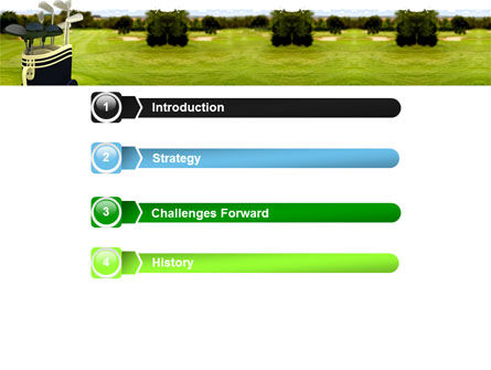 Golf Clubs PowerPoint Template, Slide 3, 05793, Sports — PoweredTemplate.com