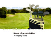 Sports: Golf Clubs PowerPoint Template #05793