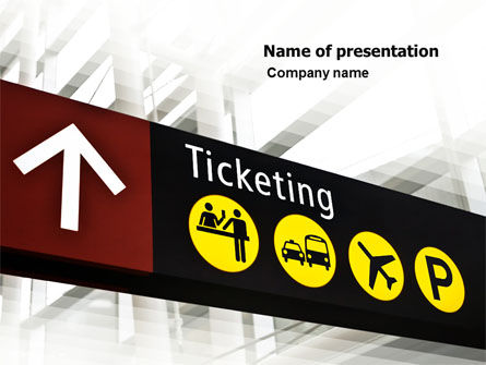 Ticket Reservation PowerPoint Template, 05794, Cars and Transportation — PoweredTemplate.com