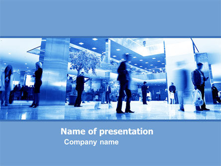 Business: Hall PowerPoint Template #05795