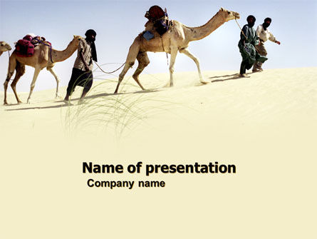 Animals and Pets: Camels PowerPoint Template #05798