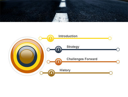 Long Distance Road PowerPoint Template, Slide 3, 05799, Business Concepts — PoweredTemplate.com
