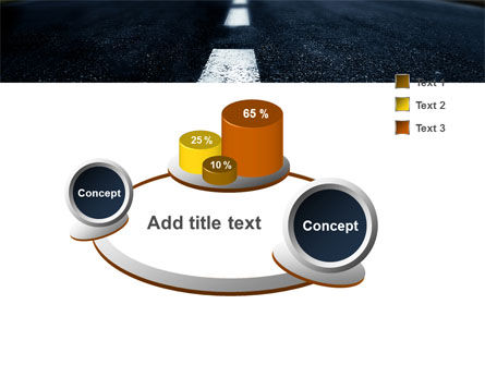 Long Distance Road PowerPoint Template Slide 6
