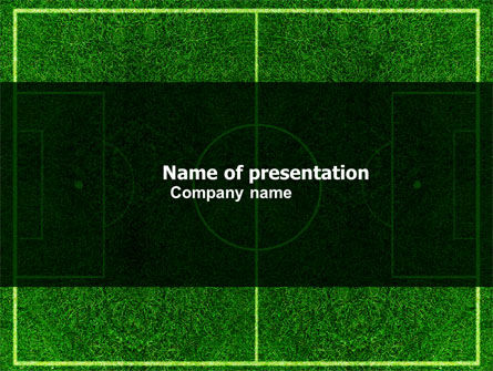 Sports: Football Play Field PowerPoint Template #05800