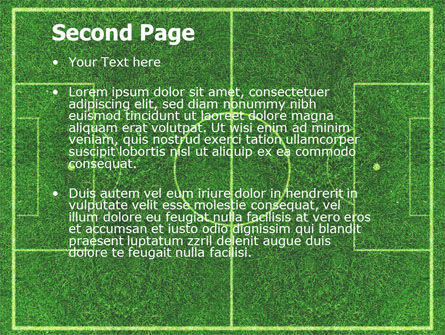 Football Play Field Powerpoint Template, Backgrounds | 05800