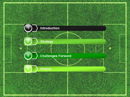 Football Play Field PowerPoint Template, Slide 3, 05800, Sports — PoweredTemplate.com