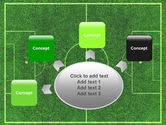 Football Play Field PowerPoint Template#7
