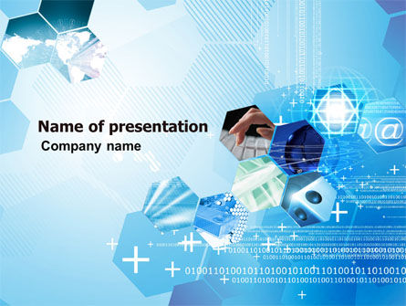 Telecommunication Cells PowerPoint Template, 05801, Technology and Science — PoweredTemplate.com
