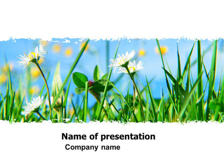 Nature & Environment: Field Flowers PowerPoint Template #05804