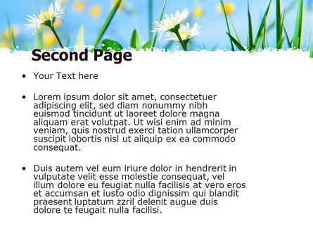 Field Flowers PowerPoint Template, Slide 2, 05804, Nature & Environment — PoweredTemplate.com