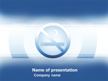 Stopping Smoking PowerPoint Template, 05806, Medical — PoweredTemplate.com