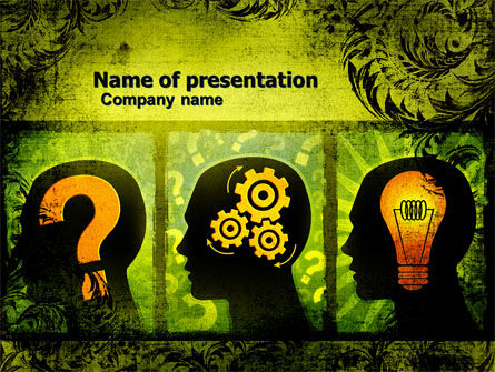 Thinking Process PowerPoint Template, 05809, Business Concepts — PoweredTemplate.com
