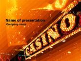 Careers/Industry: Casino PowerPoint Template #05811
