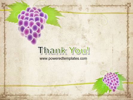 Grapes Ornament PowerPoint Template Slide 20