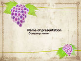 Agriculture: Grapes Ornament PowerPoint Template #05813