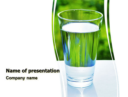 Glass of Water PowerPoint Template