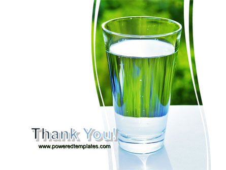 Glass of Water PowerPoint Template Slide 20