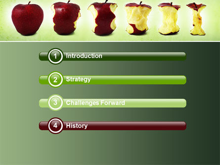 Bitten Apples PowerPoint Template Slide 3