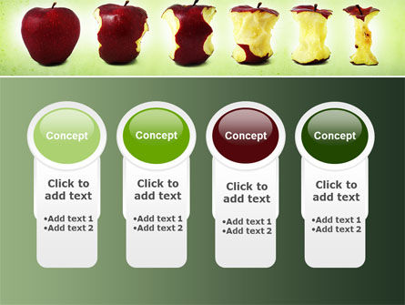 Bitten Apples PowerPoint Template Slide 5