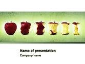 Business Concepts: 파워포인트 템플릿 - 물린 사과 #05816